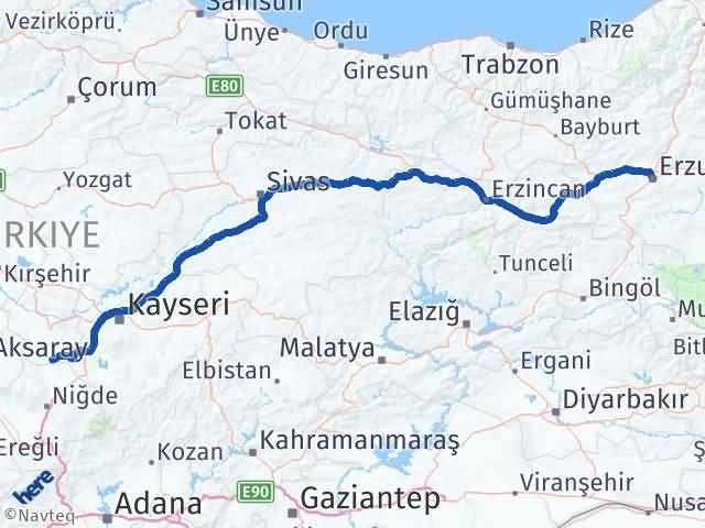 Erzurum Derinkuyu Nevşehir Arası Kaç Km? - Kmhesaplama.com Arası Kaç Km Saat? Nerede Yol Haritası Yakıt, Rota ve Mesafe Hesaplama