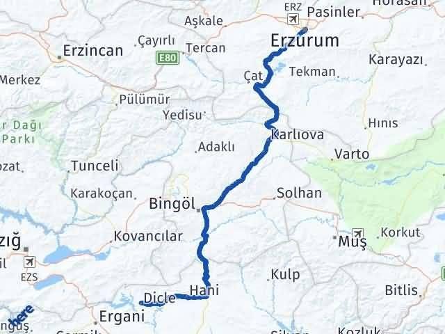 Erzurum Dicle Diyarbakır Arası Kaç Km? - Kmhesaplama.com Arası Kaç Km Saat? Nerede Yol Haritası Yakıt, Rota ve Mesafe Hesaplama