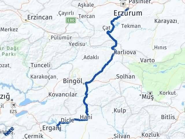 Erzurum Eğil Diyarbakır Arası Kaç Km? - Kmhesaplama.com Arası Kaç Km Saat? Nerede Yol Haritası Yakıt, Rota ve Mesafe Hesaplama