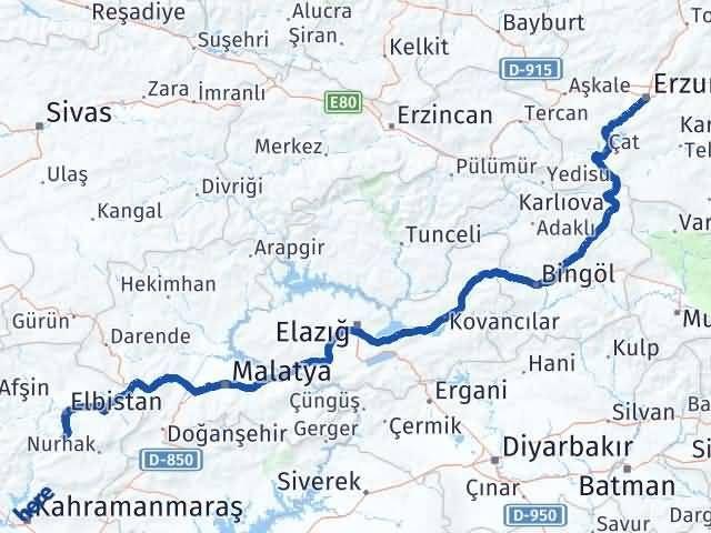 Erzurum Ekinözü Maraş Arası Kaç Km? - Kmhesaplama.com Arası Kaç Km Saat? Nerede Yol Haritası Yakıt, Rota ve Mesafe Hesaplama
