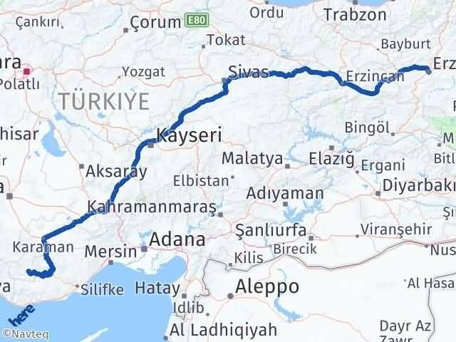 Erzurum Ermenek Karaman Arası Kaç Km? - Kmhesaplama.com Arası Kaç Km Saat? Nerede Yol Haritası Yakıt, Rota ve Mesafe Hesaplama