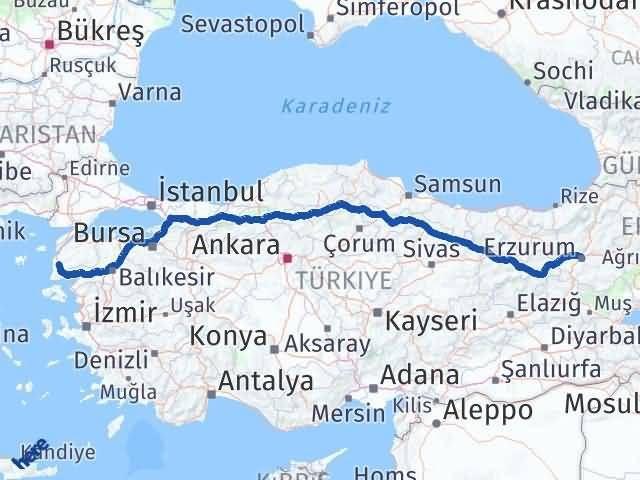 Erzurum Ezine Çanakkale Arası Kaç Km? - Kmhesaplama.com Arası Kaç Km Saat? Nerede Yol Haritası Yakıt, Rota ve Mesafe Hesaplama