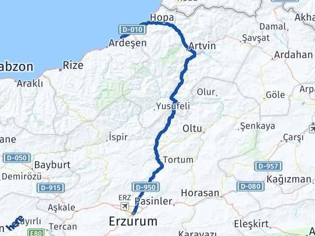 Erzurum Fındıklı Rize Arası Kaç Km? - Kmhesaplama.com Arası Kaç Km Saat? Nerede Yol Haritası Yakıt, Rota ve Mesafe Hesaplama