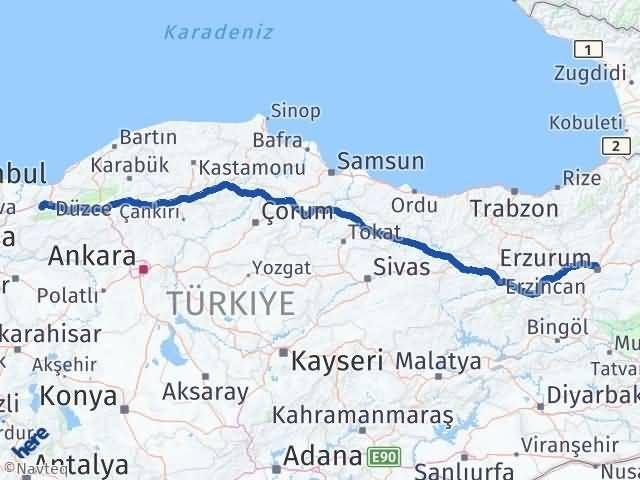 Erzurum Gölyaka Düzce Arası Kaç Km? - Kmhesaplama.com Arası Kaç Km Saat? Nerede Yol Haritası Yakıt, Rota ve Mesafe Hesaplama