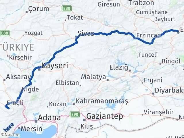 Erzurum Halkapınar Konya Arası Kaç Km? - Kmhesaplama.com Arası Kaç Km Saat? Nerede Yol Haritası Yakıt, Rota ve Mesafe Hesaplama