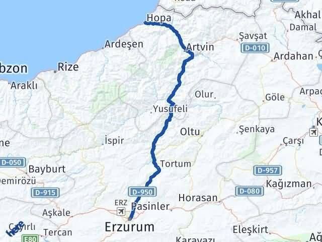 Erzurum Hopa Artvin Arası Kaç Km? - Kmhesaplama.com Arası Kaç Km Saat? Nerede Yol Haritası Yakıt, Rota ve Mesafe Hesaplama