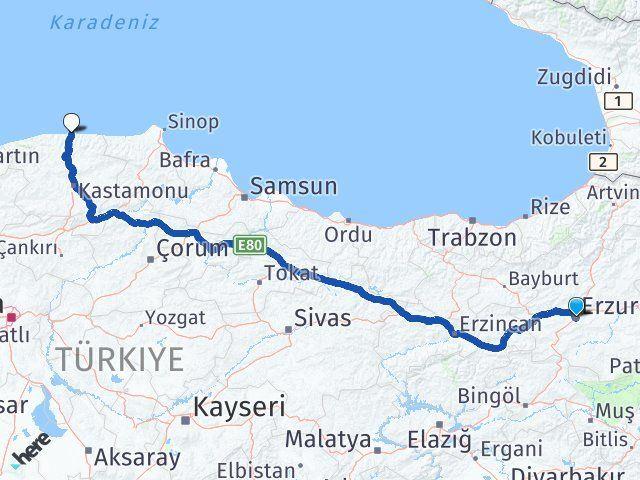 Erzurum İnebolu Kastamonu Arası Kaç Km? - Kmhesaplama.com Arası Kaç Km Saat? Nerede Yol Haritası Yakıt, Rota ve Mesafe Hesaplama