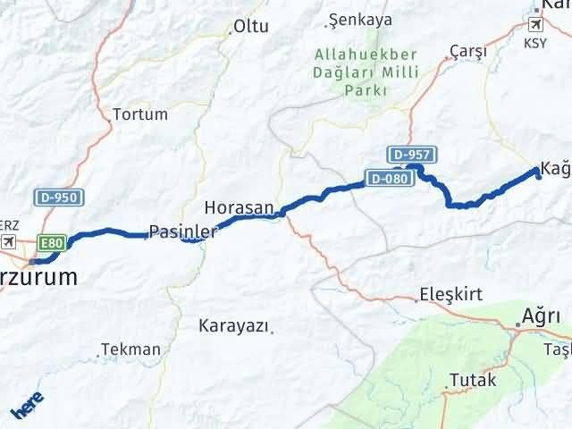 Erzurum Kağızman Kars Arası Kaç Km? - Kmhesaplama.com Arası Kaç Km Saat? Nerede Yol Haritası Yakıt, Rota ve Mesafe Hesaplama