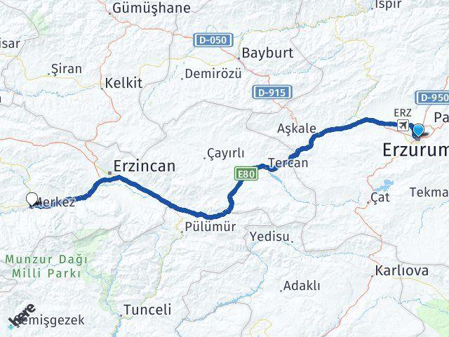 Erzurum Kemah Erzincan Arası Kaç Km? - Kmhesaplama.com Arası Kaç Km Saat? Nerede Yol Haritası Yakıt, Rota ve Mesafe Hesaplama