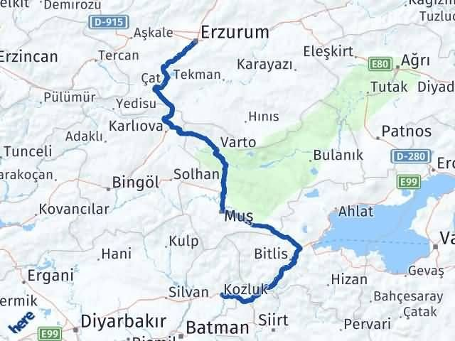 Erzurum Kozluk Batman Arası Kaç Km? - Kmhesaplama.com Arası Kaç Km Saat? Nerede Yol Haritası Yakıt, Rota ve Mesafe Hesaplama