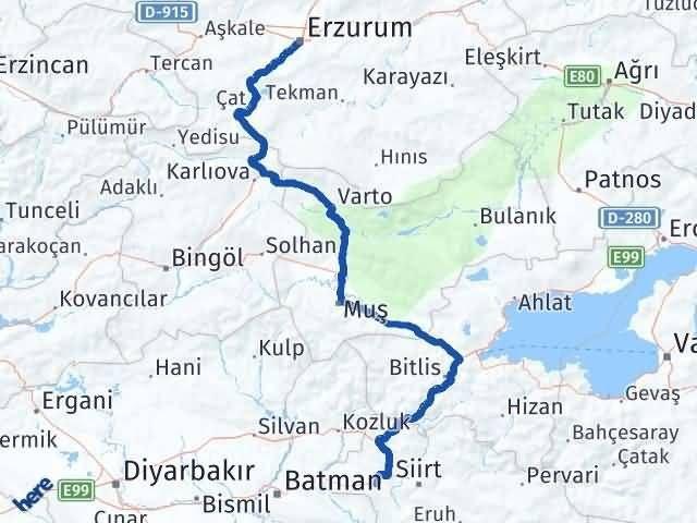 Erzurum Kurtalan Siirt Arası Kaç Km? - Kmhesaplama.com Arası Kaç Km Saat? Nerede Yol Haritası Yakıt, Rota ve Mesafe Hesaplama