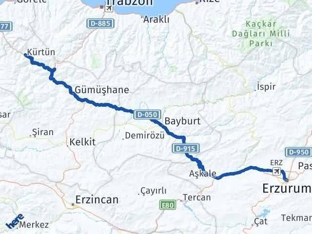 Erzurum Kürtün Gümüşhane Arası Kaç Km? - Kmhesaplama.com Arası Kaç Km Saat? Nerede Yol Haritası Yakıt, Rota ve Mesafe Hesaplama