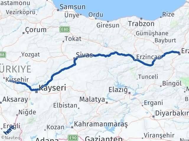 Erzurum Mucur Kırşehir Arası Kaç Km? - Kmhesaplama.com Arası Kaç Km Saat? Nerede Yol Haritası Yakıt, Rota ve Mesafe Hesaplama