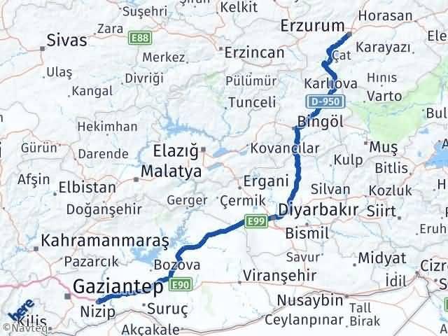 Erzurum Nizip Gaziantep Arası Kaç Km? - Kmhesaplama.com Arası Kaç Km Saat? Nerede Yol Haritası Yakıt, Rota ve Mesafe Hesaplama