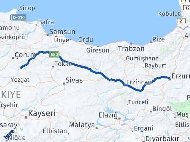 Erzurum Ortaköy Çorum Arası Kaç Km? - Kmhesaplama.com Arası Kaç Km Saat? Nerede Yol Haritası Yakıt, Rota ve Mesafe Hesaplama