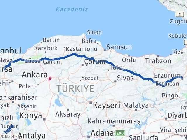 Erzurum Osmaneli Bilecik Arası Kaç Km? - Kmhesaplama.com Arası Kaç Km Saat? Nerede Yol Haritası Yakıt, Rota ve Mesafe Hesaplama
