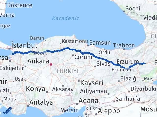 Erzurum Pasinler Yalova Arası Kaç Km? Arası Kaç Km Saat? Nerede Yol Haritası Yakıt, Rota ve Mesafe Hesaplama