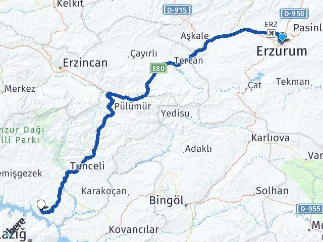 Erzurum Pertek Tunceli Arası Kaç Km? - Kmhesaplama.com Arası Kaç Km Saat? Nerede Yol Haritası Yakıt, Rota ve Mesafe Hesaplama
