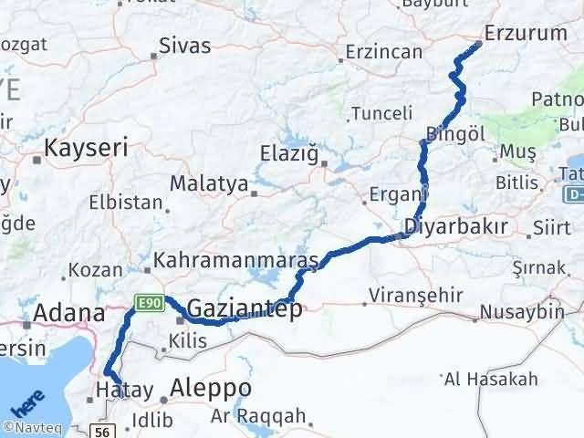 Erzurum Reyhanlı Hatay Arası Kaç Km? - Kmhesaplama.com Arası Kaç Km Saat? Nerede Yol Haritası Yakıt, Rota ve Mesafe Hesaplama