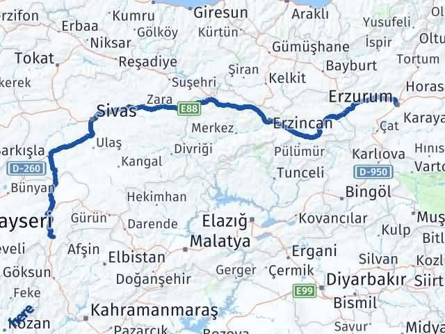 Erzurum Sarız Kayseri Arası Kaç Km? - Kmhesaplama.com Arası Kaç Km Saat? Nerede Yol Haritası Yakıt, Rota ve Mesafe Hesaplama