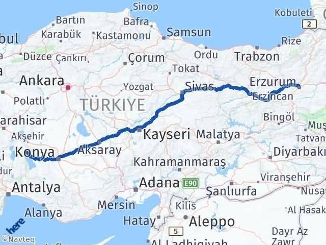 Erzurum Şarkikaraağaç Isparta Arası Kaç Km? Arası Kaç Km Saat? Nerede Yol Haritası Yakıt, Rota ve Mesafe Hesaplama