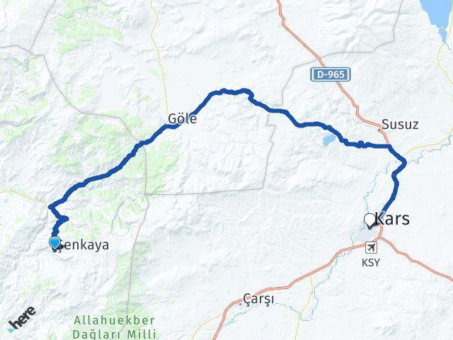 Erzurum Şenkaya Kars Arası Kaç Km? Arası Kaç Km Saat? Nerede Yol Haritası Yakıt, Rota ve Mesafe Hesaplama