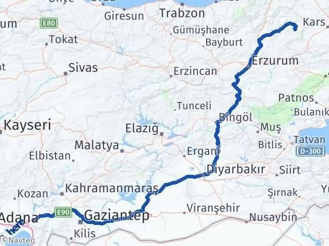 Erzurum Şenkaya Osmaniye Arası Kaç Km? Arası Kaç Km Saat? Nerede Yol Haritası Yakıt, Rota ve Mesafe Hesaplama