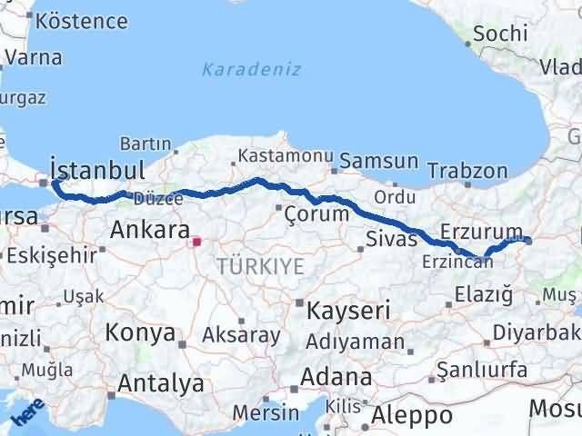 Erzurum Şile İstanbul Arası Kaç Km? - Kmhesaplama.com Arası Kaç Km Saat? Nerede Yol Haritası Yakıt, Rota ve Mesafe Hesaplama
