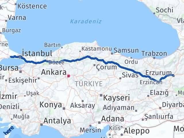 Erzurum Silivri İstanbul Arası Kaç Km? - Kmhesaplama.com Arası Kaç Km Saat? Nerede Yol Haritası Yakıt, Rota ve Mesafe Hesaplama