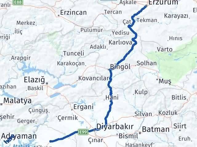 Erzurum Siverek Şanlıurfa Arası Kaç Km? - Kmhesaplama.com Arası Kaç Km Saat? Nerede Yol Haritası Yakıt, Rota ve Mesafe Hesaplama