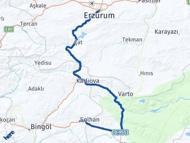 Erzurum Solhan Bingöl Arası Kaç Km? - Kmhesaplama.com Arası Kaç Km Saat? Nerede Yol Haritası Yakıt, Rota ve Mesafe Hesaplama
