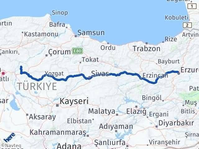 Erzurum Sulakyurt Kırıkkale Arası Kaç Km? - Kmhesaplama.com Arası Kaç Km Saat? Nerede Yol Haritası Yakıt, Rota ve Mesafe Hesaplama
