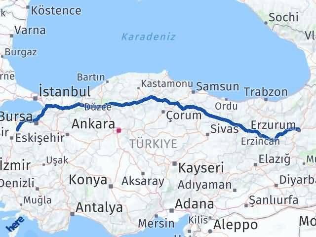 Erzurum Susurluk Balıkesir Arası Kaç Km? - Kmhesaplama.com Arası Kaç Km Saat? Nerede Yol Haritası Yakıt, Rota ve Mesafe Hesaplama