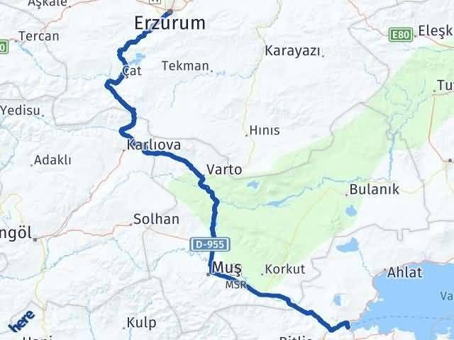 Erzurum Tatvan Bitlis Arası Kaç Km? - Kmhesaplama.com Arası Kaç Km Saat? Nerede Yol Haritası Yakıt, Rota ve Mesafe Hesaplama