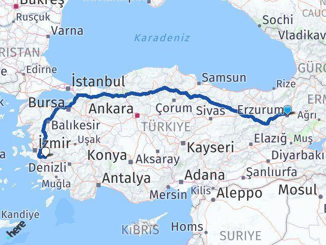 Erzurum Tire İzmir Arası Kaç Km? - Kmhesaplama.com Arası Kaç Km Saat? Nerede Yol Haritası Yakıt, Rota ve Mesafe Hesaplama