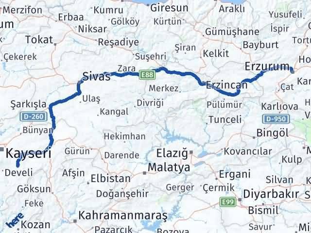 Erzurum Tomarza Kayseri Arası Kaç Km? - Kmhesaplama.com Arası Kaç Km Saat? Nerede Yol Haritası Yakıt, Rota ve Mesafe Hesaplama