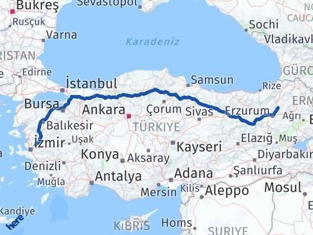 Erzurum Tortum Manisa Arası Kaç Km? Arası Kaç Km Saat? Nerede Yol Haritası Yakıt, Rota ve Mesafe Hesaplama