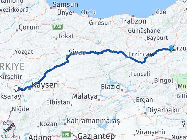 Erzurum Ürgüp Nevşehir Arası Kaç Km? - Kmhesaplama.com Arası Kaç Km Saat? Nerede Yol Haritası Yakıt, Rota ve Mesafe Hesaplama