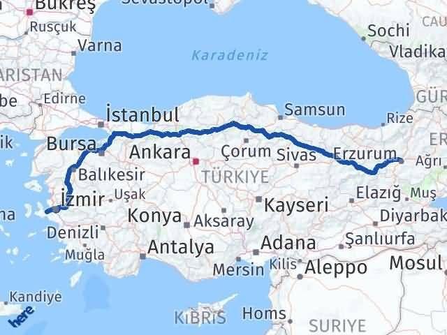 Erzurum Urla İzmir Arası Kaç Km? - Kmhesaplama.com Arası Kaç Km Saat? Nerede Yol Haritası Yakıt, Rota ve Mesafe Hesaplama