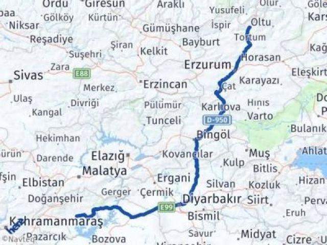 Erzurum Uzundere Adıyaman Arası Kaç Km? Arası Kaç Km Saat? Nerede Yol Haritası Yakıt, Rota ve Mesafe Hesaplama