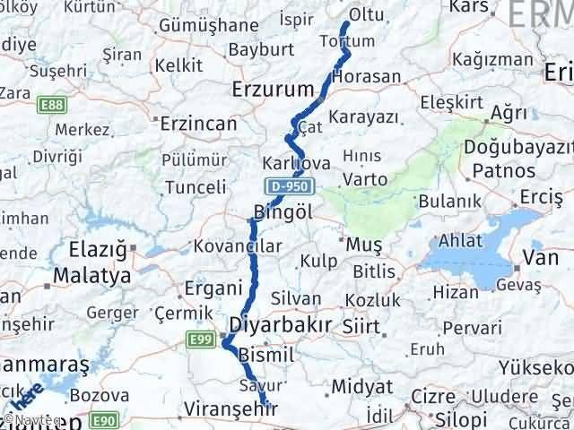 Erzurum Uzundere Mardin Arası Kaç Km? Arası Kaç Km Saat? Nerede Yol Haritası Yakıt, Rota ve Mesafe Hesaplama