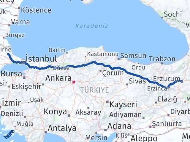 Erzurum Vize Kırklareli Arası Kaç Km? - Kmhesaplama.com Arası Kaç Km Saat? Nerede Yol Haritası Yakıt, Rota ve Mesafe Hesaplama