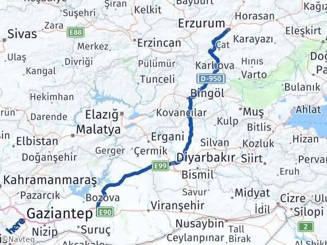 Erzurum Yakutiye Şanlıurfa Arası Kaç Km? Arası Kaç Km Saat? Nerede Yol Haritası Yakıt, Rota ve Mesafe Hesaplama
