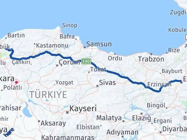 Erzurum Yenice Karabük Arası Kaç Km? - Kmhesaplama.com Arası Kaç Km Saat? Nerede Yol Haritası Yakıt, Rota ve Mesafe Hesaplama