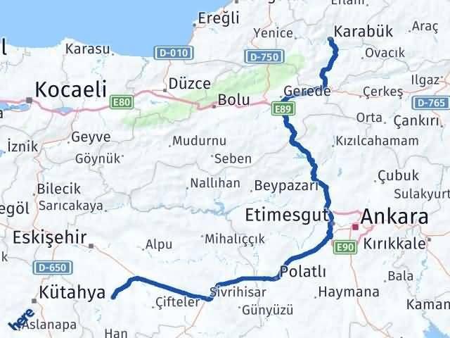 Eskişehir Seyitgazi   Karabük Arası Kaç Km? Arası Kaç Km Saat? Nerede Yol Haritası Yakıt, Rota ve Mesafe Hesaplama