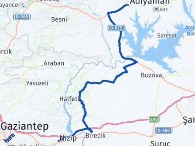 Gaziantep Nizip Adıyaman Arası Kaç Km? Arası Kaç Km Saat? Nerede Yol Haritası Yakıt, Rota ve Mesafe Hesaplama