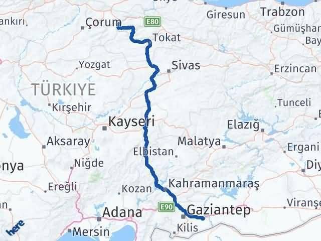 Gaziantep Nizip Amasya Arası Kaç Km? Arası Kaç Km Saat? Nerede Yol Haritası Yakıt, Rota ve Mesafe Hesaplama