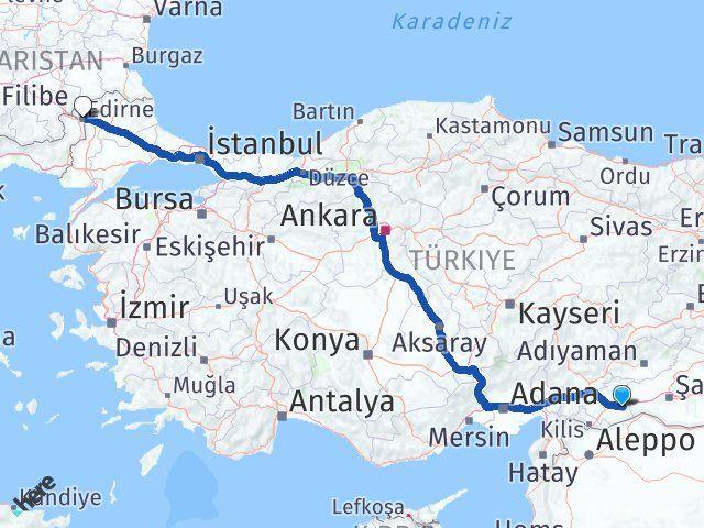 Gaziantep Nizip Edirne Arası Kaç Km? Arası Kaç Km Saat? Nerede Yol Haritası Yakıt, Rota ve Mesafe Hesaplama