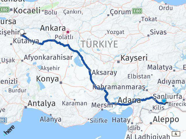 Gaziantep Nizip Eskişehir Arası Kaç Km? Arası Kaç Km Saat? Nerede Yol Haritası Yakıt, Rota ve Mesafe Hesaplama