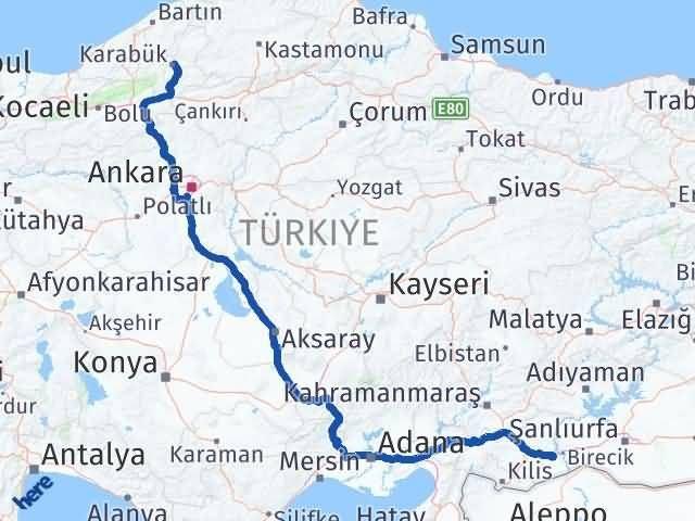 Gaziantep Nizip Karabük Arası Kaç Km? Arası Kaç Km Saat? Nerede Yol Haritası Yakıt, Rota ve Mesafe Hesaplama
